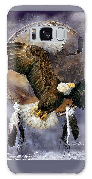 Dream Catcher - Spirit Eagle Galaxy Case by Carol Cavalaris
