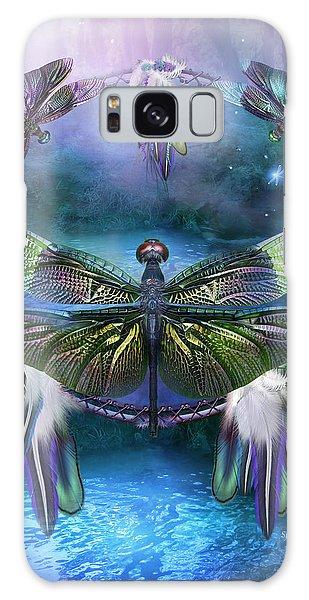 Dream Catcher - Spirit Of The Dragonfly Galaxy Case by Carol Cavalaris