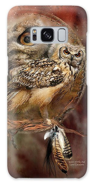 Owl Galaxy Case - Dream Catcher - Spirit Of The Owl by Carol Cavalaris