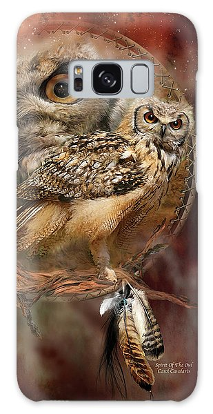 Galaxy Case featuring the mixed media Dream Catcher - Spirit Of The Owl by Carol Cavalaris