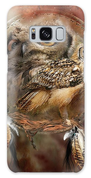 Card Galaxy S8 Case - Dream Catcher - Spirit Of The Owl by Carol Cavalaris