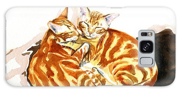 Dreaming Of Ginger - Orange Tabby Cat Painting Galaxy Case