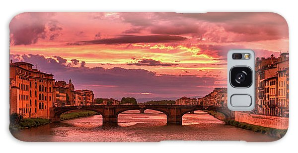 Dreamlike Sunset From Ponte Vecchio Galaxy Case
