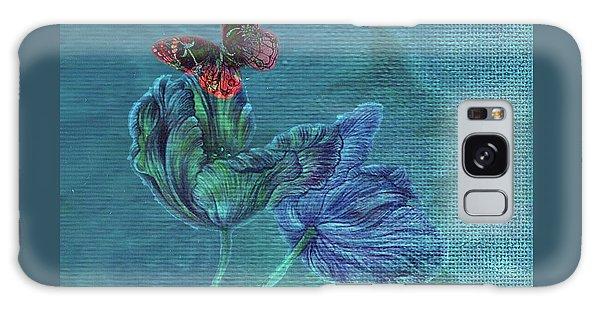 Dreamy Tulip With Gemlike Butterfly Galaxy Case