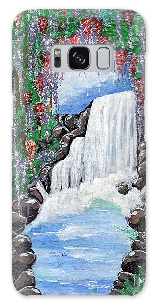 Dreamy Waterfall Galaxy Case by Saranya Haridasan