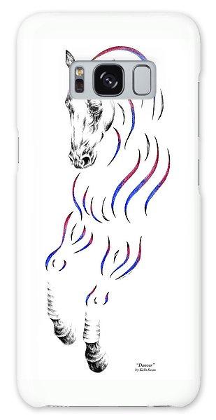 Dressage Horse Dancer Print Galaxy Case by Kelli Swan