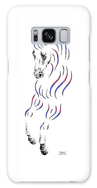 Dressage Horse Dancer Print Galaxy Case