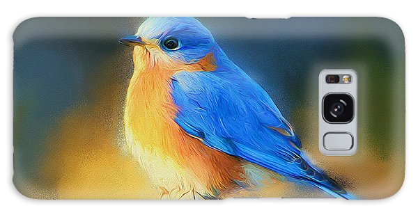 Eastern Bluebird Galaxy Case - Dressed In Blue by Tina  LeCour