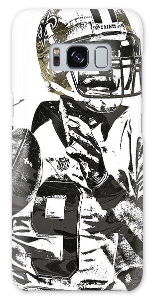 Drew Brees New Orleans Saints Pixel Art 1 Galaxy Case by Joe Hamilton