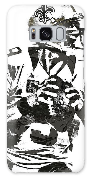 Drew Brees New Orleans Saints Pixel Art 2 Galaxy Case by Joe Hamilton