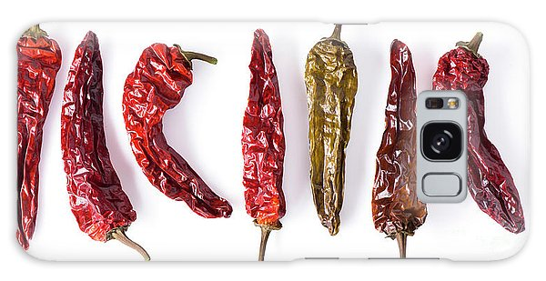 Dried Peppers Lined Up Galaxy Case