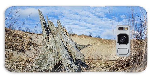 Dried Stump At Warren Dunes Galaxy Case