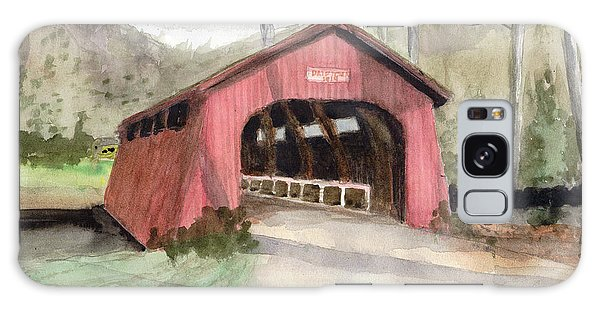 Drift Creek Covered Bridge Watercolor Galaxy Case