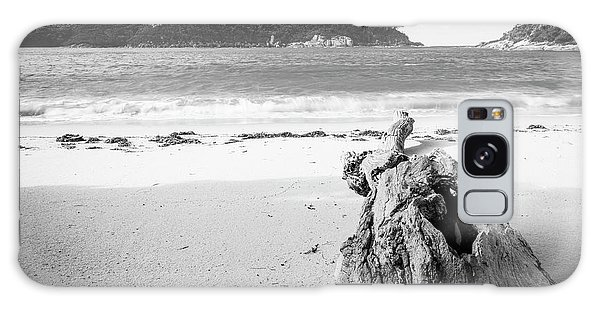 Wilsons Promontory Galaxy Case - Driftwood On Beach Black And White by Tim Hester