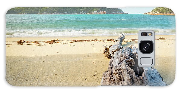 Wilsons Promontory Galaxy Case - Driftwood On Beach by Tim Hester