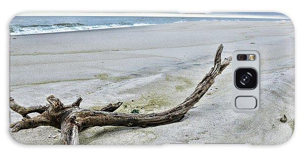 Driftwood On The Beach Galaxy Case by Paul Ward