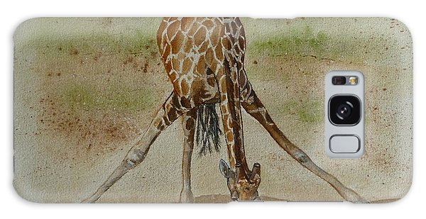 Drinking Giraffe Galaxy Case