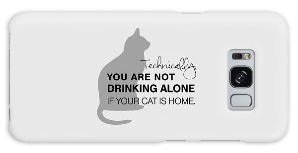 Cat Galaxy Case - Drinking With Cats by Nancy Ingersoll
