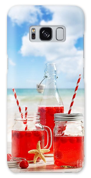 Picnic Table Galaxy Case - Drinks At The Beach by Amanda Elwell