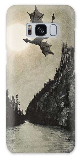 Galaxy Case featuring the painting Drogon's Lair by Suzette Kallen