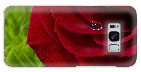 Drop On A Rose Galaxy Case by Marlo Horne