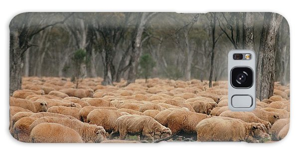 Droving Sheep  At Albert Australia Galaxy Case