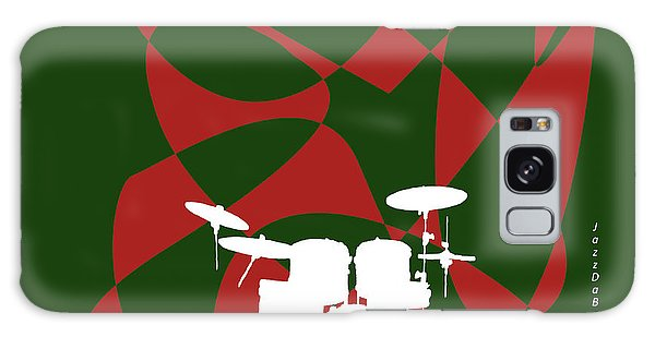 Drums In Green Strife Galaxy Case