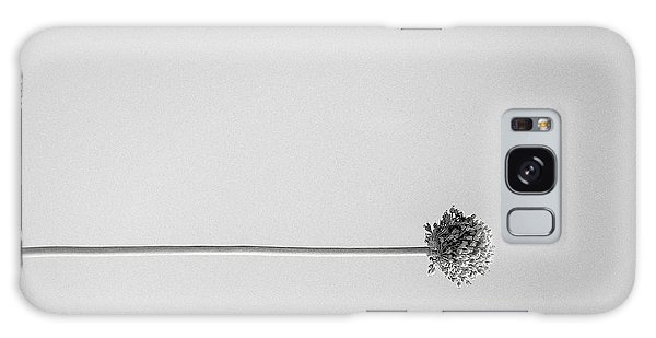 Dry Flower - Black And White Art Photo Galaxy Case