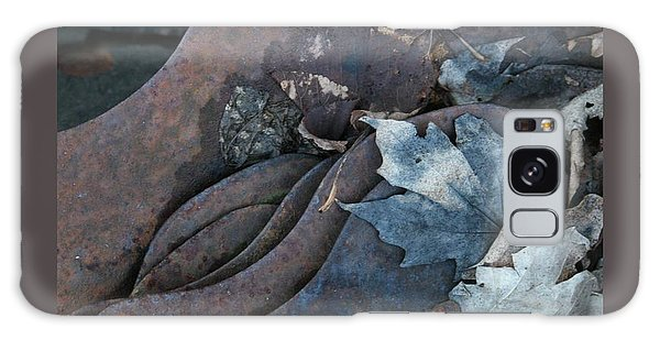 Dry Leaves And Old Steel-ix Galaxy Case by Patricia Overmoyer