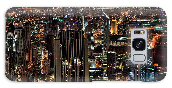 Dubai At Night Galaxy Case
