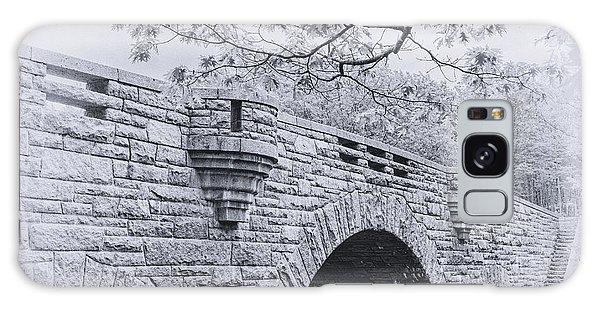 Duck Brook Bridge In Black And White Galaxy Case