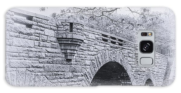 Duck Brook Bridge In Black And White Galaxy Case