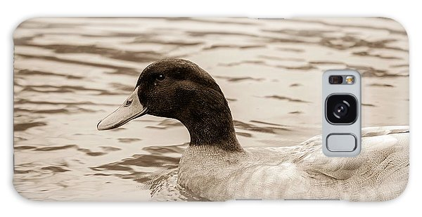 Duck In Pond Galaxy Case