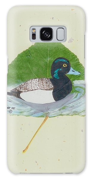 Duck On Pond #2 Galaxy Case