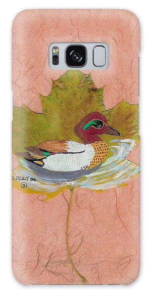 Duck On Pond Galaxy Case