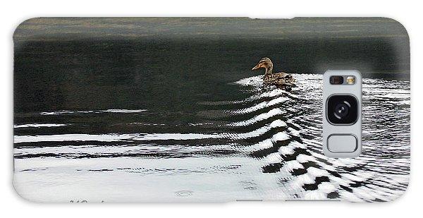 Duck On Ripple Wake Galaxy Case