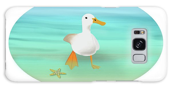 Duck Paddling At The Seaside Galaxy Case