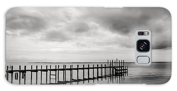 Duck Pier In Black And White Galaxy Case