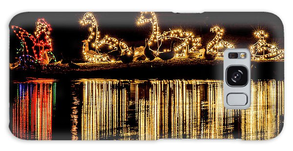 Duck Pond Christmas Galaxy Case