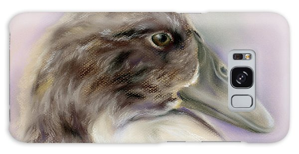 Duck Portrait In Gray And Brown Galaxy Case