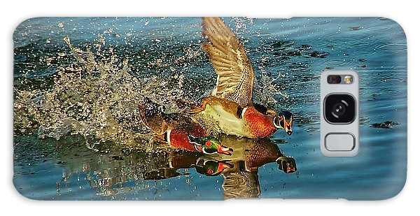 Duck Racing, Wood Ducks Galaxy Case