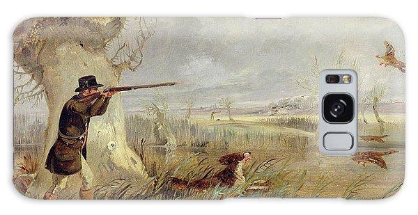 Duck Shooting  Galaxy Case by Henry Thomas Alken