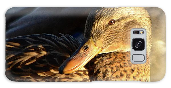 Duck Sunbathing Galaxy Case