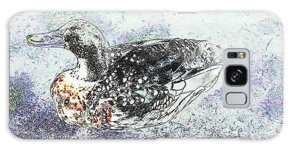 Galaxy Case featuring the photograph Duck With Fine Plumage by Nareeta Martin