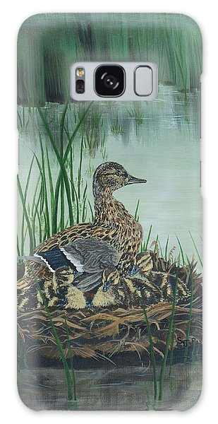 Ducks In Lifting Fog Galaxy Case