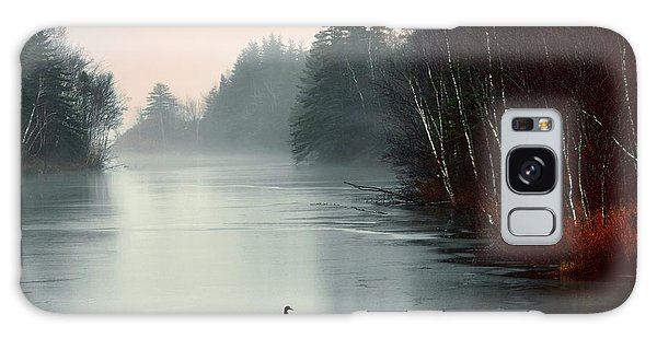 Ducks On A Frozen Pond Galaxy Case by Elaine Manley