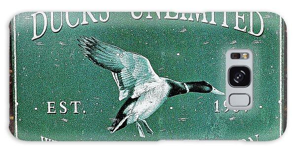 Ducks Unlimited Vintage Sign Galaxy Case