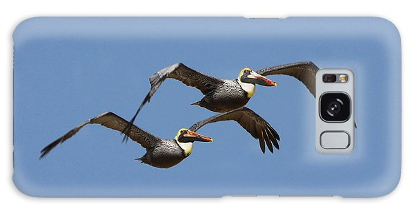Duel Pelicans In Flight Galaxy Case