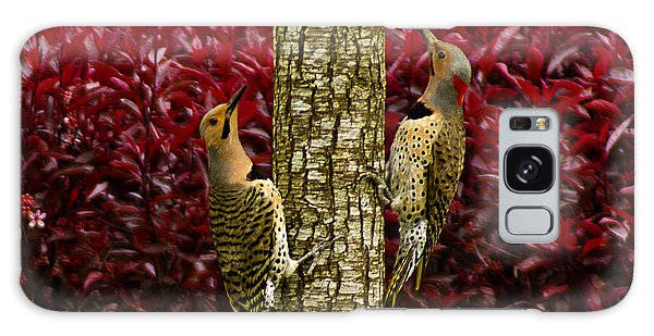 Dueling Woodpeckers Galaxy Case