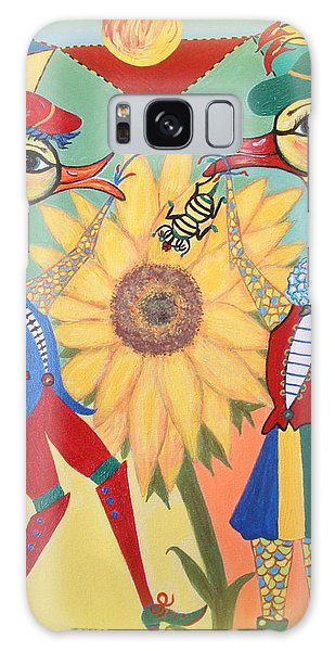 Duke Have A Honey-bee Galaxy Case by Marie Schwarzer